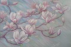 Magnolie. Pastell, Papier